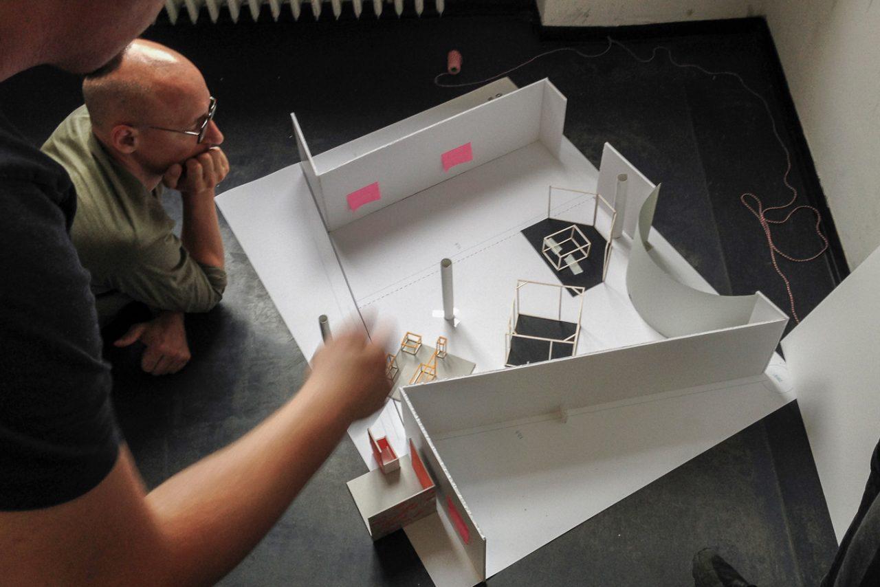 exhibition paper model
