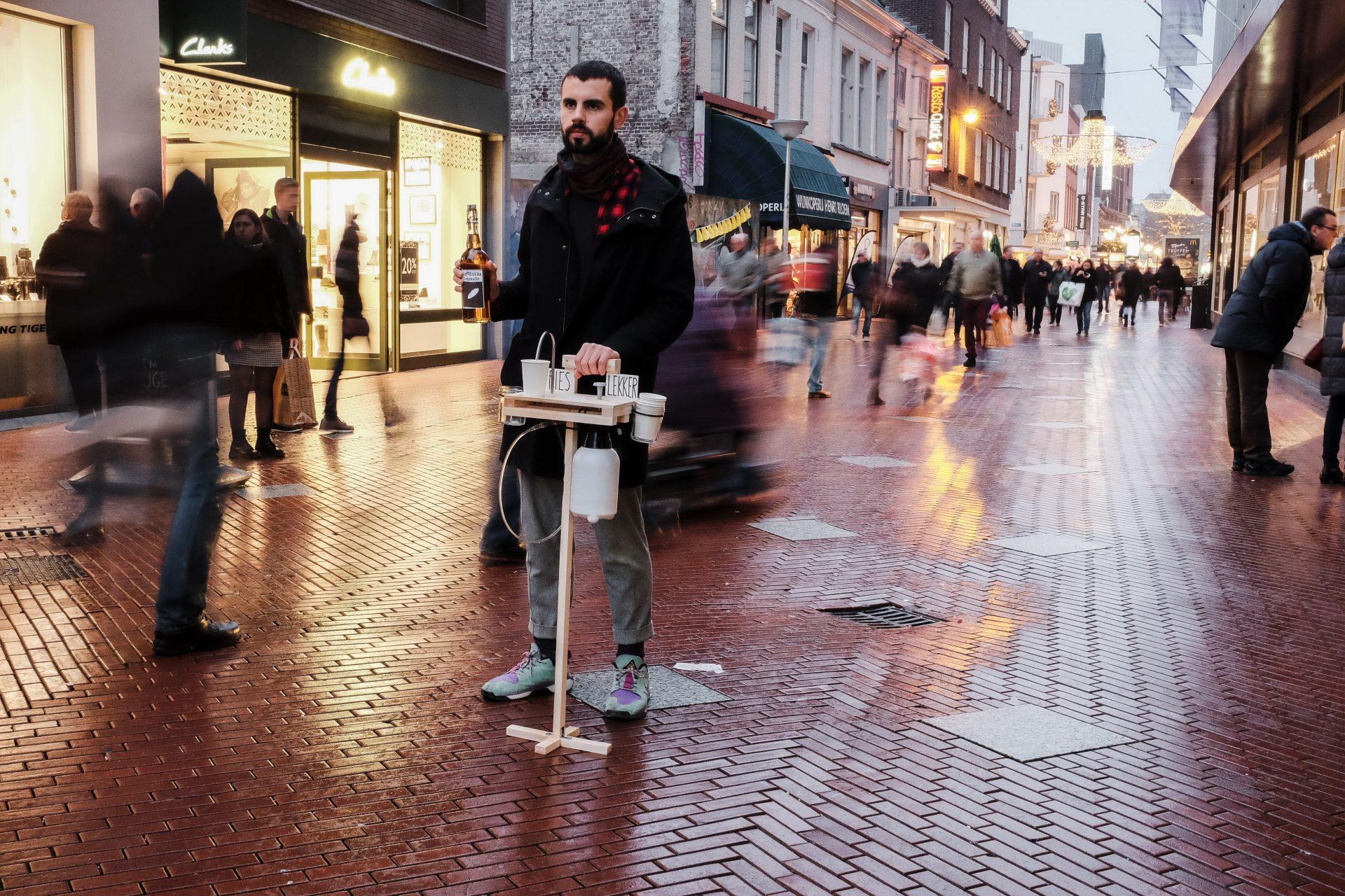Kombucha Tapping Prototype in shopping street
